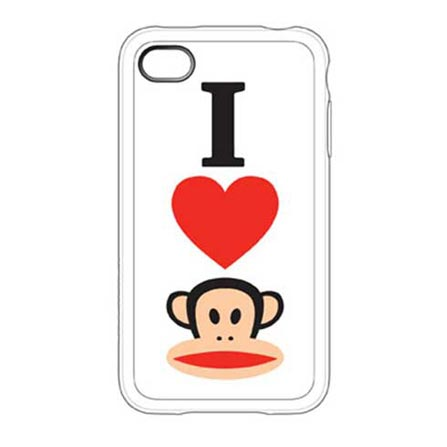 Capa de Silicone I Heart Julius Branco para iPhone 4 - Paul Frank - C0005J