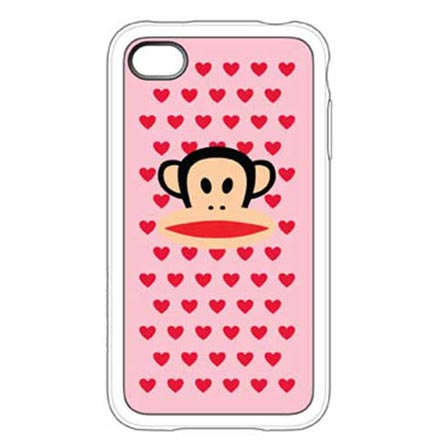 Capa de Silicone Multi-Hearts Julius Rosa para iPhone 4 - Paul Frank - C0005L