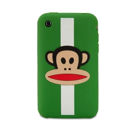 Capa de silicone Julius Stripe Green para iPhone 3G - Paul Frank - R00002, Verde e Branco, 06 meses