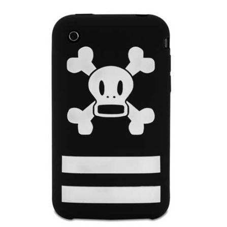 Capa de Silicone Stripe Skurvy Preta e Branca para iPhone 3G e 3GS - Paul Frank - R00005