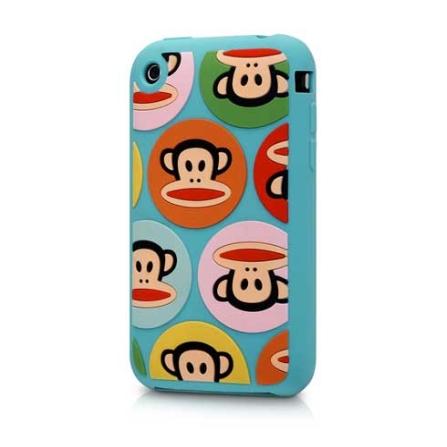 Capa de silicone Dots Julius colorida para iPhone 3G - Paul Frank - R00009, Colorido, 06 meses
