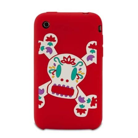 Capa de silicone Sugar Skurvy Vermelha para iPhone 3G - Paul Frank - R00012, Vermelho, 06 meses