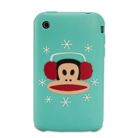 Capa de silicone Earmuffs Julius Azul para iPhone 3G - Paul Frank - R00055, Azul, 06 meses