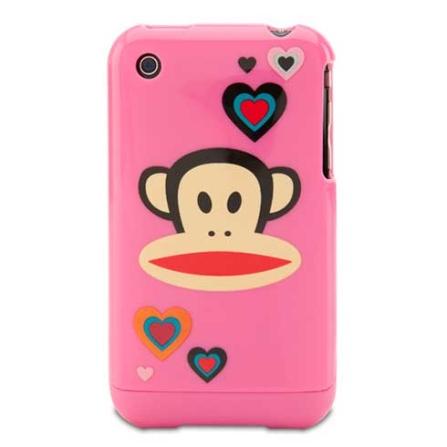 Capa Rigida Heart Julius para iPhone 3G/3GS - Rosa - Paul Frank - R00107