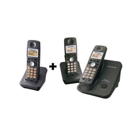 Telefone sem Fio 2.4Ghz com Alarme e Identificador de Chamadas + 2 Ramais sem Fio 2.4Ghz - Panasonic - CJ3526_GA351