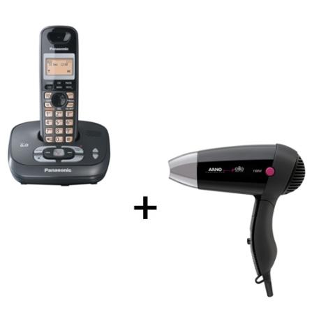 Telefone sem Fio Panasonic + Secador de Cabelo