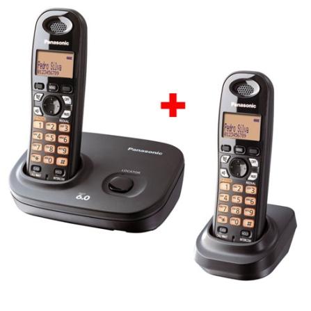 (PAKXTG6382LB)Telefone s/ Fio 1.9GHZ com Identificador de Chamadas / Agenda para 50 nomes e números / Visor Iluminado /