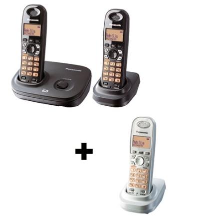 Telefone sem Fio 1.9GHZ + 2 ramais s/ fio Panasoni