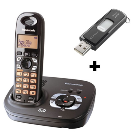 (Fim promo) Telefone sem Fio 1.9GHZ com Identificador de Chamadas / Secretária Eletrônica Digital / Visor Iluminado / Pr