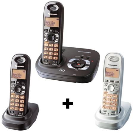 Telefone sem Fio 1.9GHZ com Identificador de Chamadas / Secretária Eletrônica Digital / Visor Iluminado Preto + 2 Ramais
