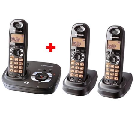 Telefone 1.9GHZ c/ Secretária + 2 Ramais Panasonic