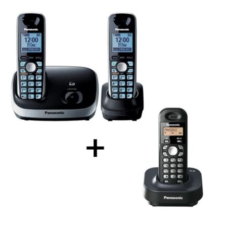 Telefone s/ Fio, 1 Ramal+Telefone s/ Fio Panasonic