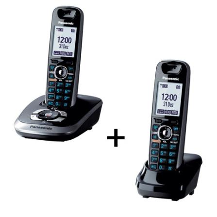 Telefone s/ Fio com Secretária + Ramal Panasonic