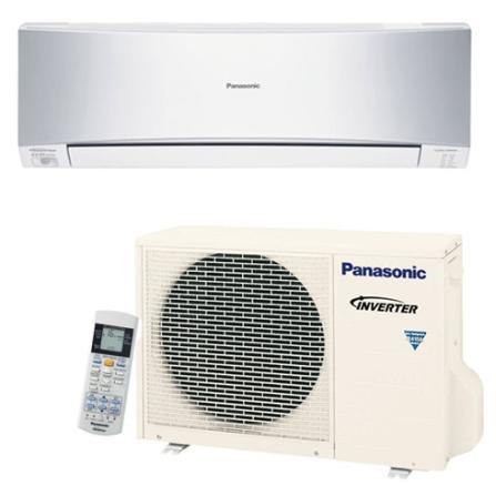 Condicionador de Ar Split  Inverter 12000Btus / Eletrônico / Frio / Resfriamento Rápido / Prata - Panasonic - CUS12KKQ7, 220V, LA, 12.000 BTUs, Split, 12.000 a 18.500 BTUs