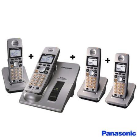 (Fim promo) Telefone sem fio 5.8GHZ com Alarme e Identificador de Chamadas + 3 Ramais sem Fio 5,8GHz - Panasonic - CJG6026_A601