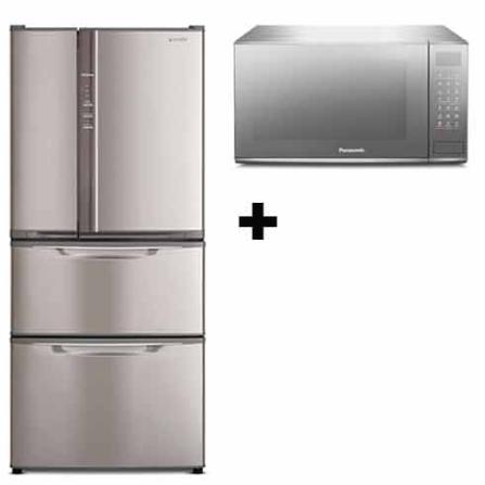 Refrigerador Multi-Portas 432L Frost Free / Sistema Inverter / Freezer Inteligente / Inox + Forno de Microondas 27L / Sistema Fl, 110V, LB
