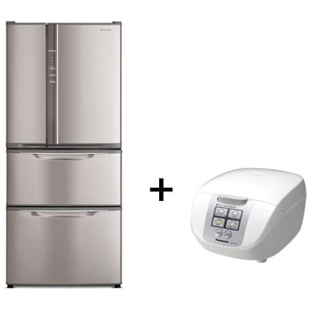 Refrigerador 432L + Panela Elétrica Panasonic, 110V, 220V, LB