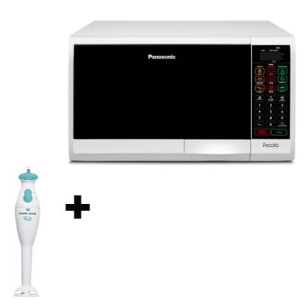 Forno de Microondas 22L Panasonic + Mixer Vertical, 110V, LB, 22 Litros, De 21 a 29 litros