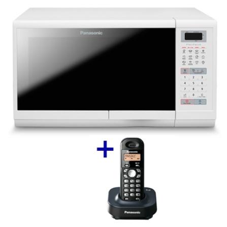Forno de Micro-ondas 28L+Telefone sem Fio Panason, 110V, LB, 28 Litros, De 21 a 29 litros