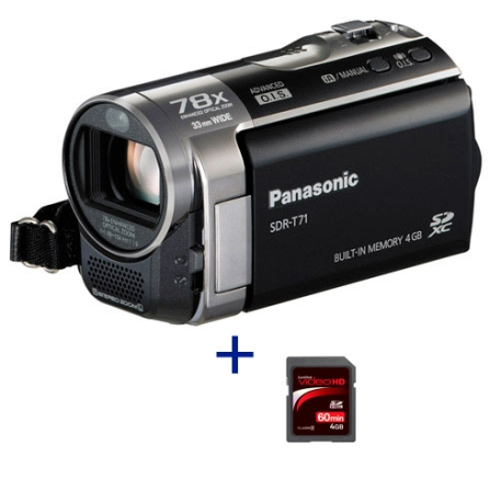 Panasonic T71 Zoom Óptico 78x + Cartão SanDisk 4GB