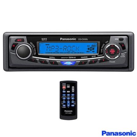 Auto Rádio MP3/WMA 52W x4 com Conexão para iPod - Panasonic - CQ_C3333LM