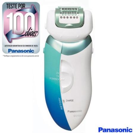 Depilador a Seco e Molhado / Protetor de Pele / Lâmina Hipoalergênica Panasonic - ES2051, Bivolt, Bivolt, Azul e Branco