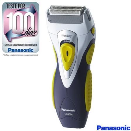 Barbeador a Seco e Molhado com 2 Cabeças / Corpo Emborrachado / Aparador / Design Ergonômico - Panasonic - ES4026N581