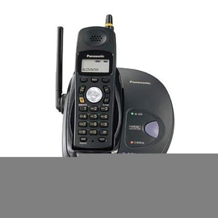 Telefone sem fio 2,4GHZ com Identificador de Chamada e Viva-voz Panasonic - KXTG2825LBB
