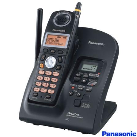 Telefone sem Fio 2,4GHz com Identificador de Chamada e Secretária Eletrônica Panasonic - KXTG2935LBB
