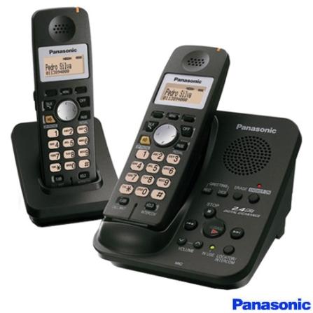 adecb84e2 Telefone sem Fio 2.4GHZ com Secretária Eletrônica e Identificador de  Chamadas + Ramal sem Fio