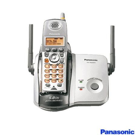 Telefone sem fio 5.8GHZ com Identificador de Chamadas Panasonic - KXTG5625LBS