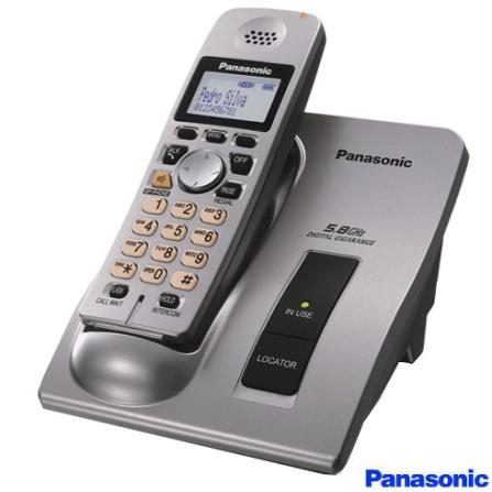 Telefone sem fio 5.8GHZ com Identificador de Chamada e Antena Embutida - Panasonic - KXTG6025LBM