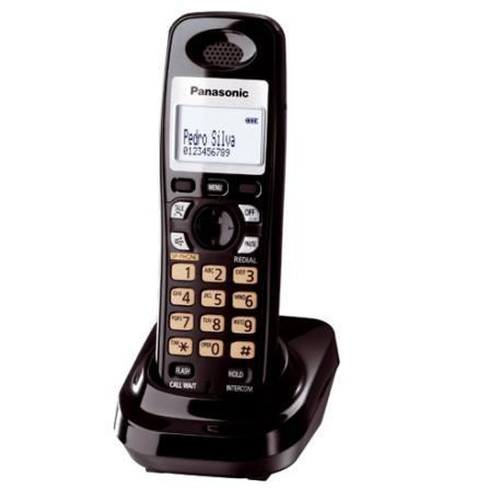 Ramal sem Fio de 1.9GHZ com Alarme e Identificador de Chamadas Preto / Compatível com KX-TG6381/6382/6391/6392LBB/S e KX