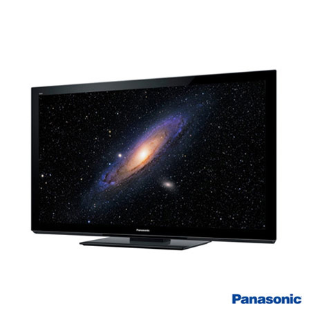 TV Plasma 65'' 3D, 600Hz de Frequencia Panasonic, Bivolt, Bivolt, Preto, Sim, 600 Hz, 12 meses, Full HD, Não, De 50'' a 65'', 65'', Plasma