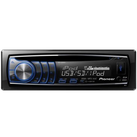Som Automotivo Pioneer com Potência de 23Wx4, Interface com iPod e iPhone via USB, USB Frontal, Entrada para Cartão SD e