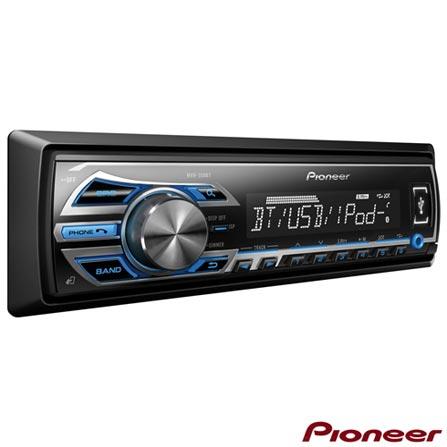 Media Receiver Pioneer com USB Frontal, Bluetooth, Interface para iPod e iPhone e Dual Illumination - MVH-358BT, Preto, 12 meses