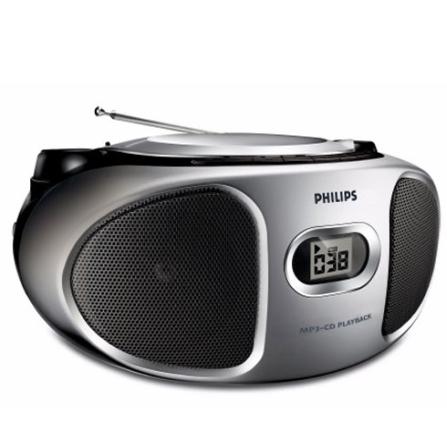 Rádio Portátil Philips AZ302S78 com CD Soundmachine 2x1W e Compatível com CD-R e CD-RW