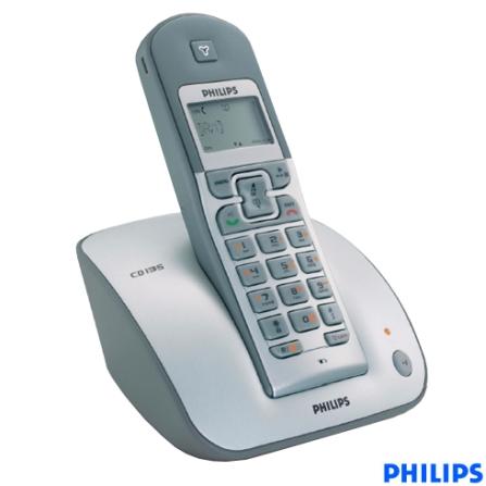 Telefone sem Fio Digital DECT 1.9 com Viva Voz / Secretária Eletrônica / Identificador de Chamada - Série CD1 Philips -