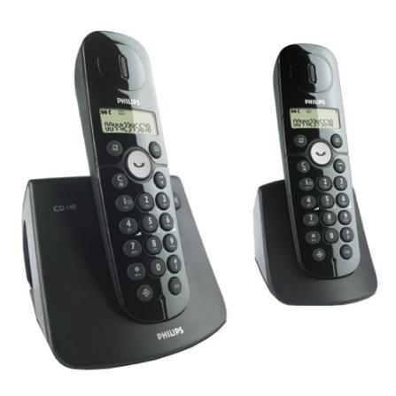 Telefone sem Fio DECT 6.0 + Ramal sem Fio Philips