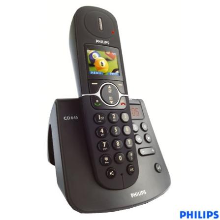 Telefone sem Fio Digital DECT 6.0 com Identificador de Chamada / Viva-Voz / Secretária Eletrônica / Display em Cores / M