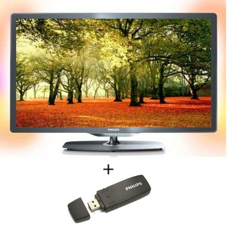 TV LED 32'' + Adaptador USB s/ Fio Philips, VD