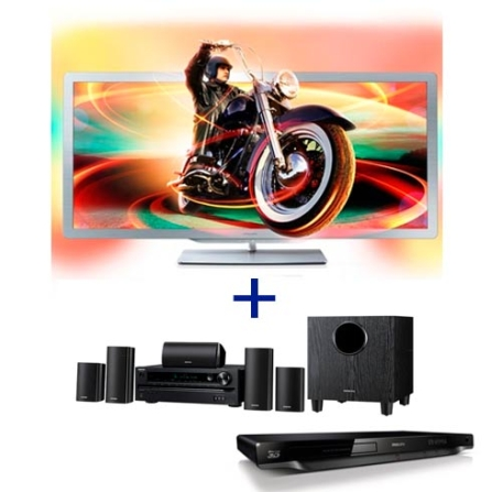 TV Cinema Philips PFL8956D78 com 21:9 LED 3D com 50