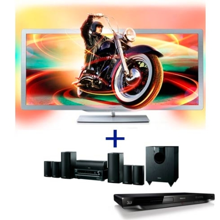 TV Cinema Philips PFL8956D78 com 21:9 LED 3D com 50