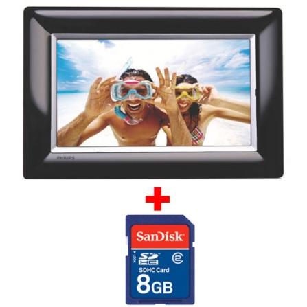 Porta Retrato Digital com Tela LCD de 7