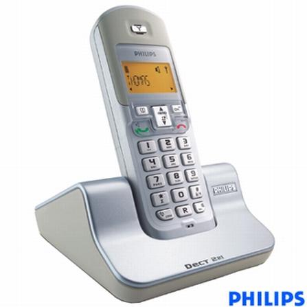 Telefone sem fio Digital 2,4GHz com Identificador de Chamadas Philips - DCTG221_1S78