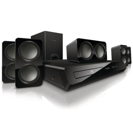 Home Theater DVD Philips HTS3531 com 2.1 Canais, Potência de 210W, HDMI para Filmes HD e EasyLink