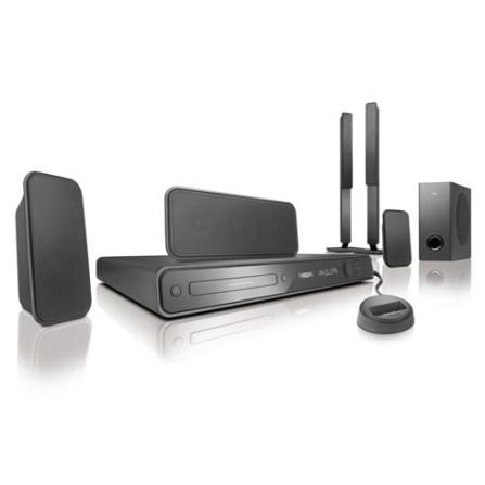 Home Theater 5.1 Canais com DVD /1000W RMS / Dock para iPod / FullSound / DoubleBASS / Karaokê / Conexão USB e HDMI - Ph