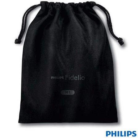 Fone de Ouvido Philips Headphone Preto - M1FIDELIO, Preto, Headphone, 06 meses