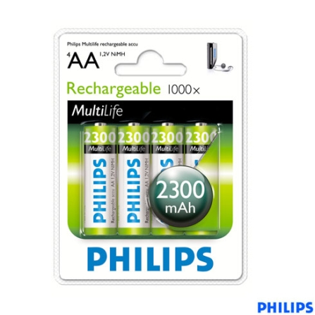 Pilha Recarregável AA, 2.300 mAh - Philips - R6B4A23010