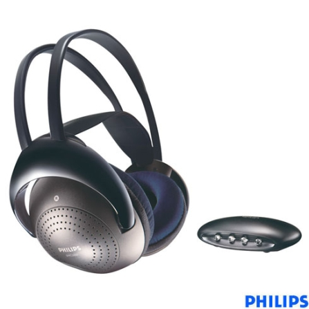 Fone de Ouvido Wireless Estereo ate 7m - Philips - SHC2000_00, Prata, Headphone, 06 meses